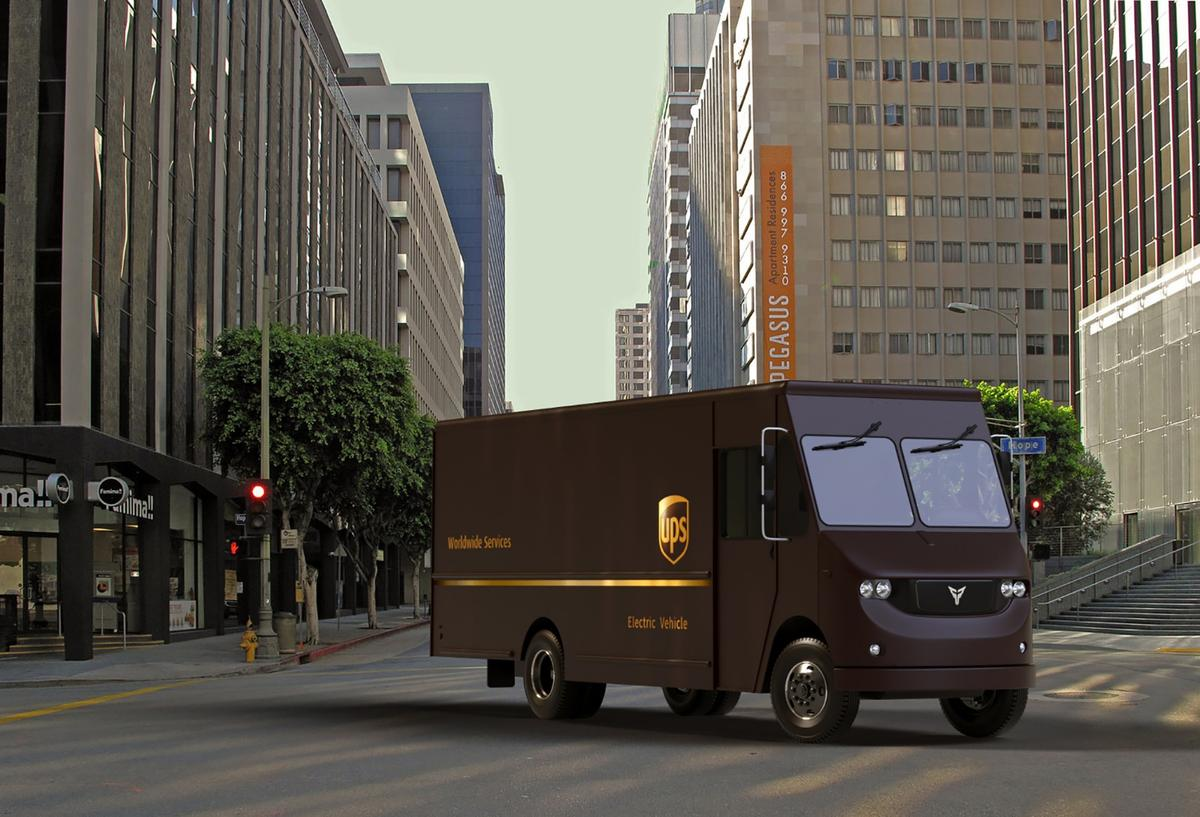 Thor's medium-duty electric delivery van will be testing by UPS for 6 months
