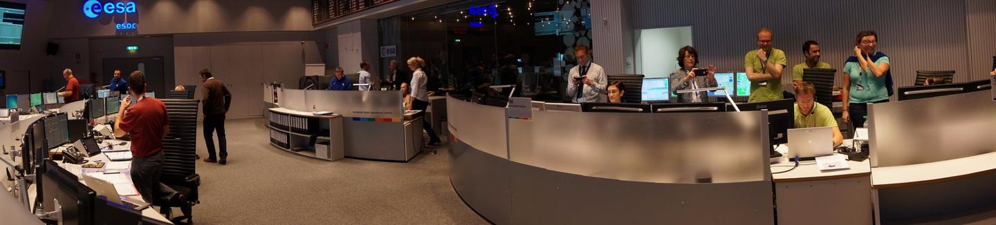 Mission control in Darmstadt, Germany