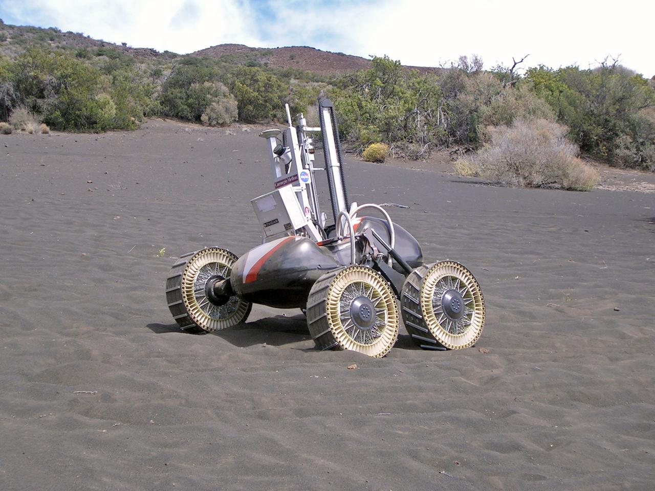 NASA's Lunar rover prototype, Scarab may one day be a contender for swarmies (Photo: NASA)