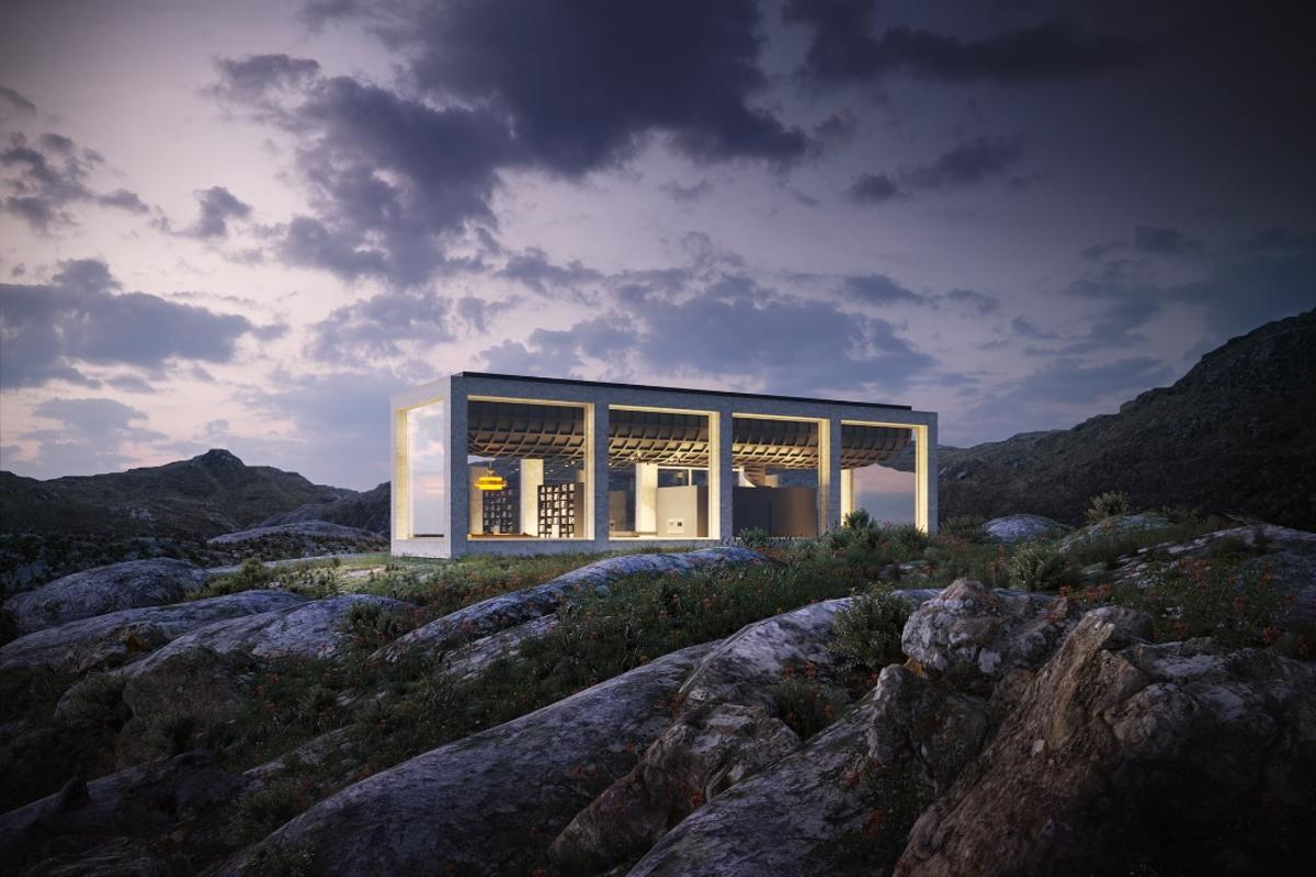 The Infinity House is just a concept for now and there's no immediate plans to build it