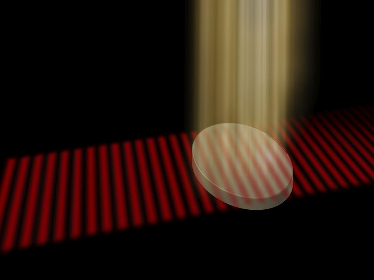 The new invisibility cloak in development at TU Wien works by projecting a precise pattern onto a special material to match its inner pattern of irregularities, allowing light waves to pass right through it