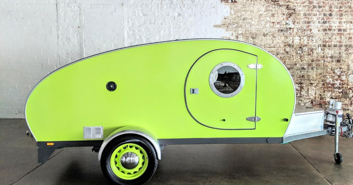 Cool Beans adds extra curves and color to the humble teardrop trailer