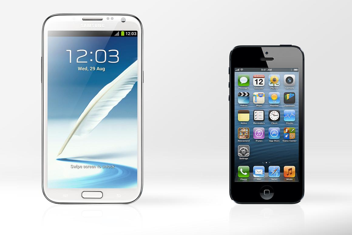 Gizmag compares the specs and features of the Galaxy Note 2 and iPhone 5