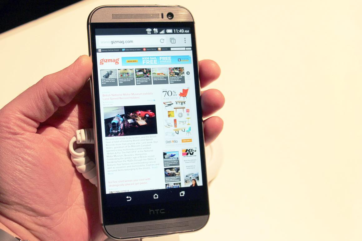 Gizmag gets a hands-on look at HTC's new One M8