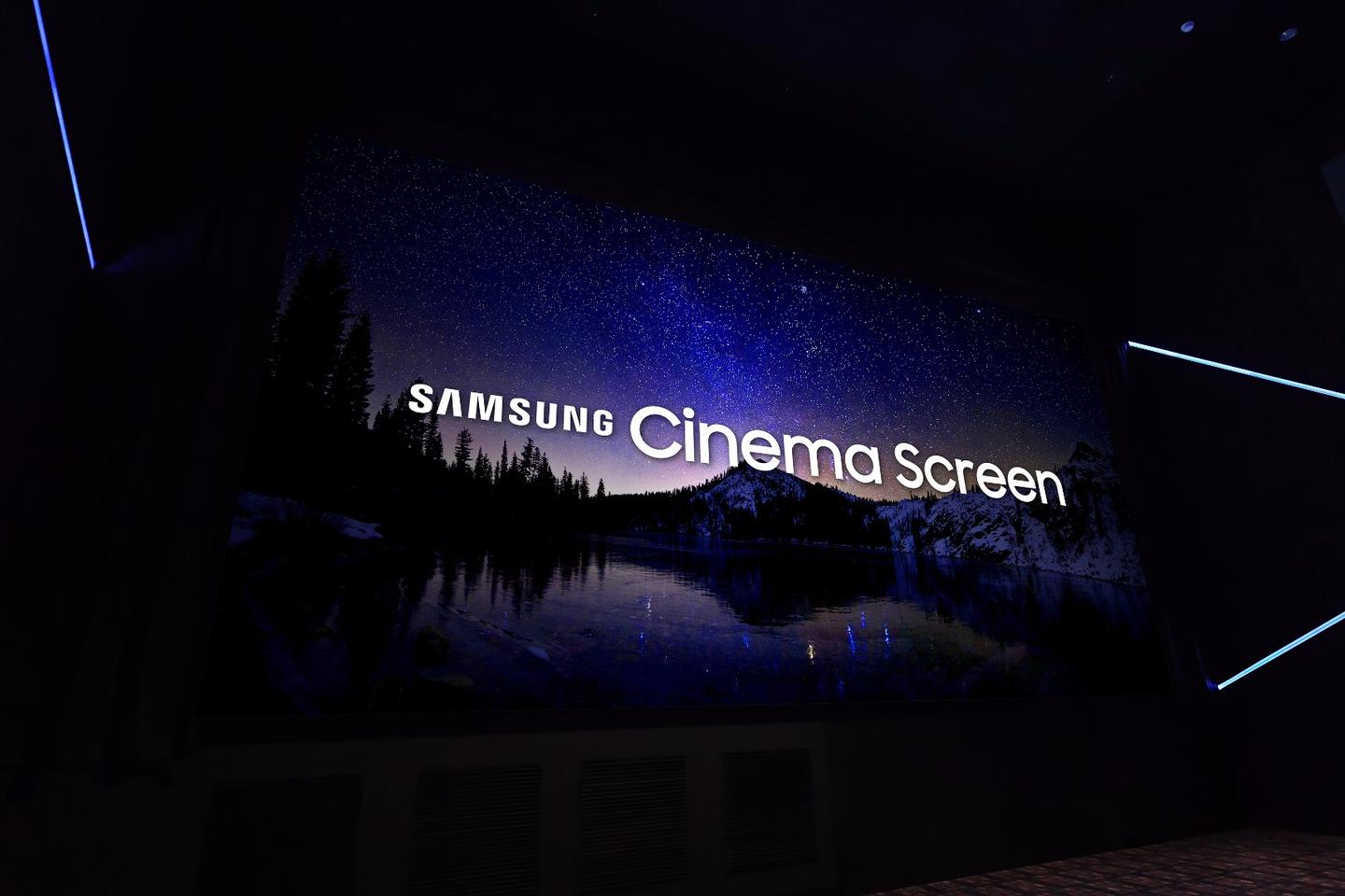 Samsung's Cinema LED Screen boasts 4,096 x 2,160 UHD resolution, coupled with High Dynamic Range technology