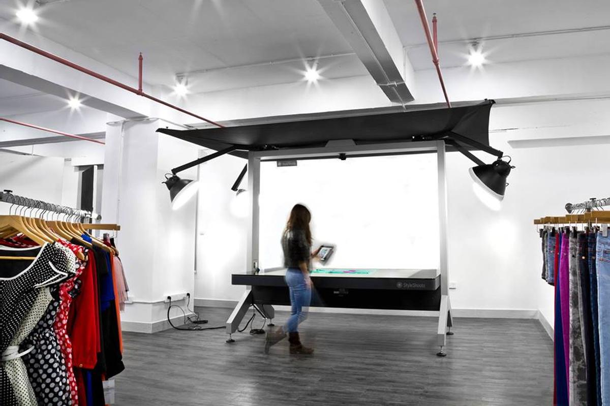 The StyleShoots system in use