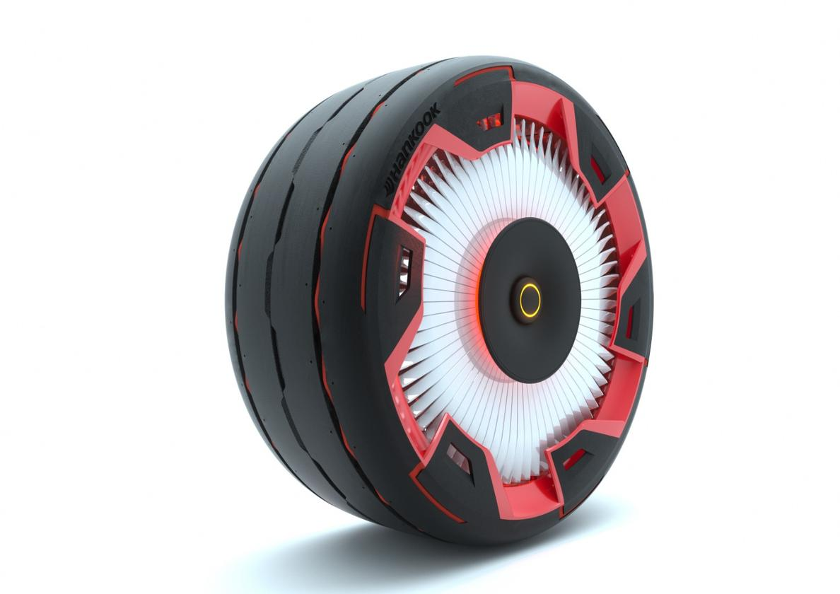 Hankook Aeroflow concept: incorporates a turbine in the wheel