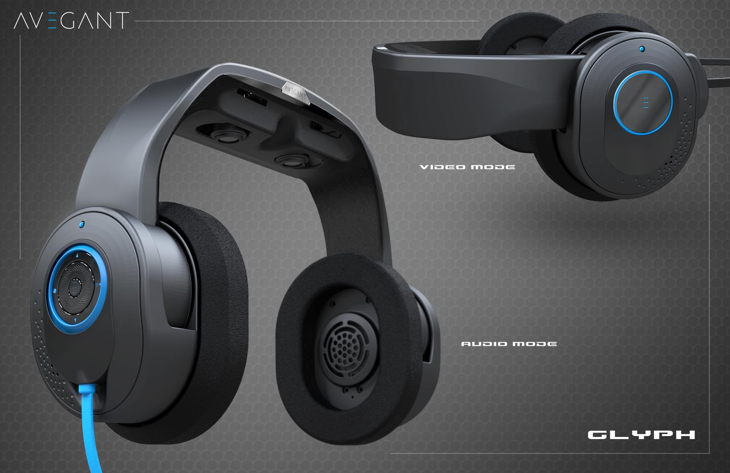 Rendering of the latest Glyph headset design