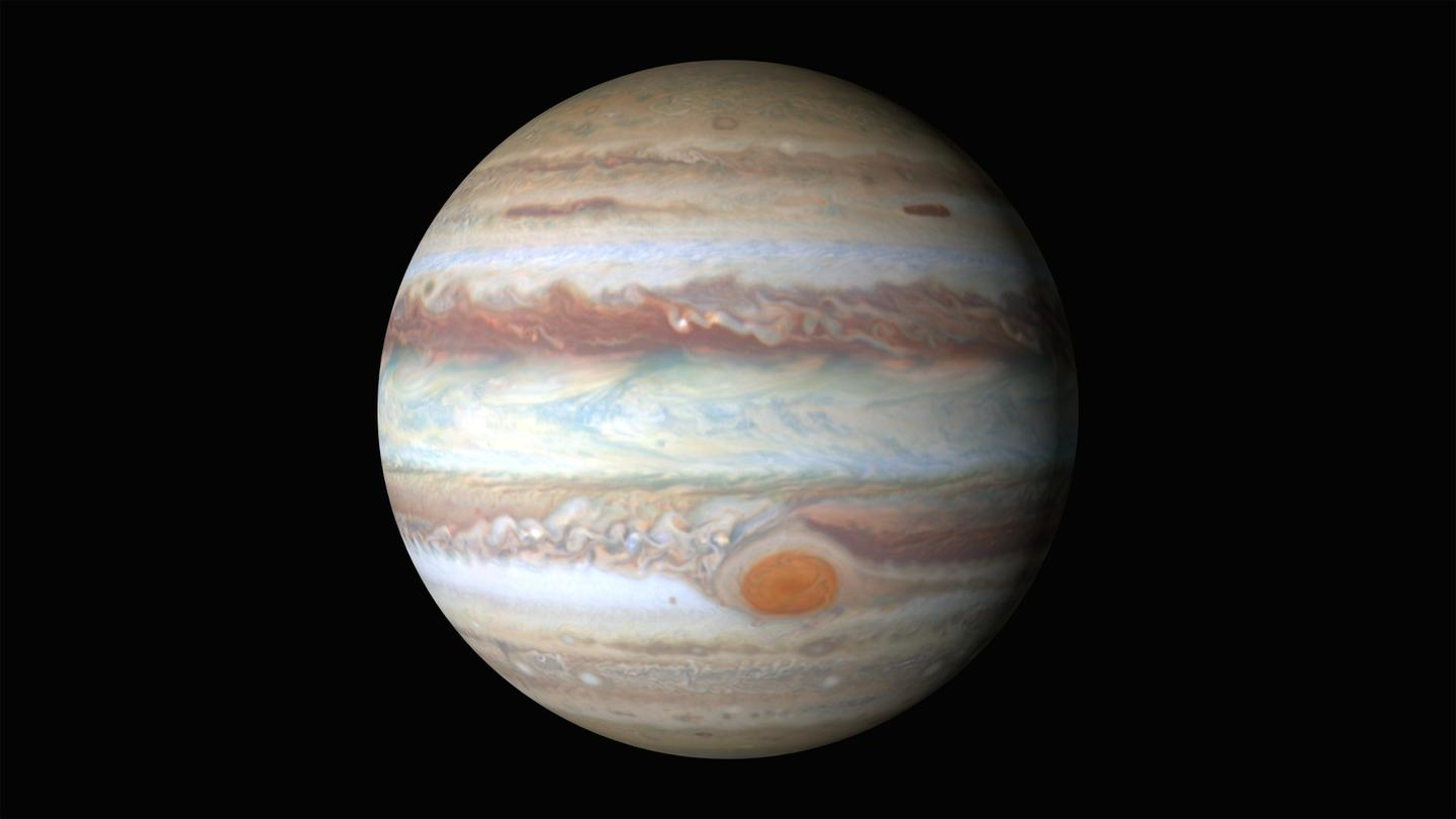 Jupiter as captured by the Hubble Space Telescope
