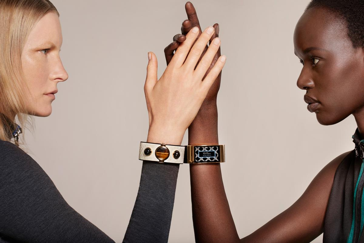 Intel has teamed up with Opening Ceremony to create a gem-encrusted smart bracelet