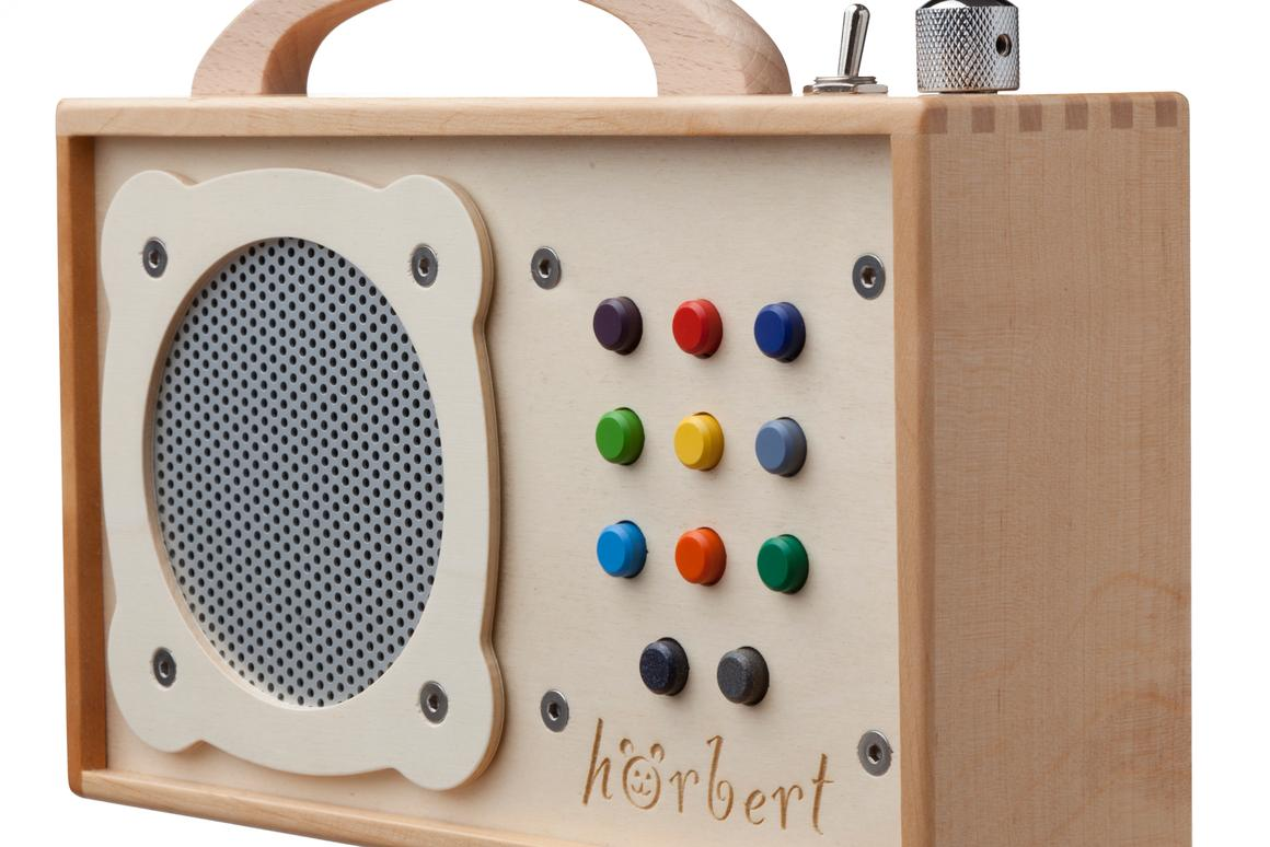 hörbert is is a fully functional MP3 player which can be used to store your little one's music, and is designed for them to operate