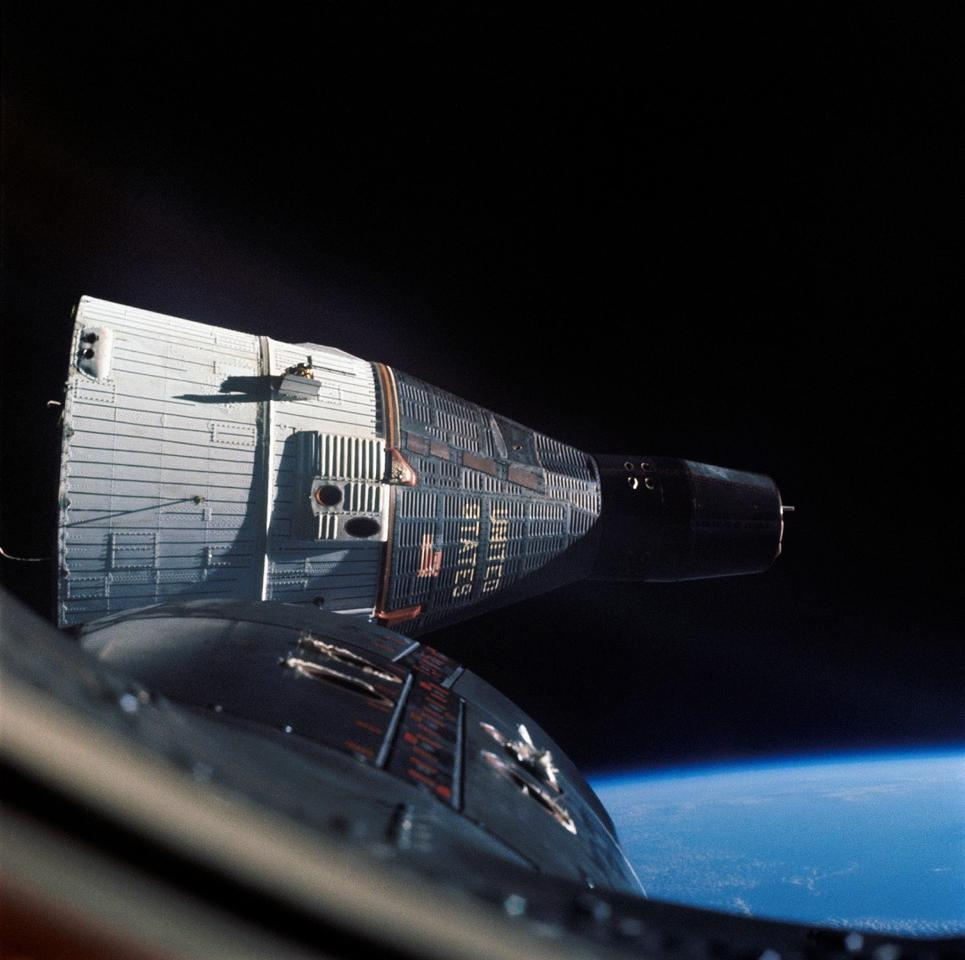 The on-board computer was necessary for complex maneuvers, such as the rendezvous of Gemini 6 and 7 in December 1965