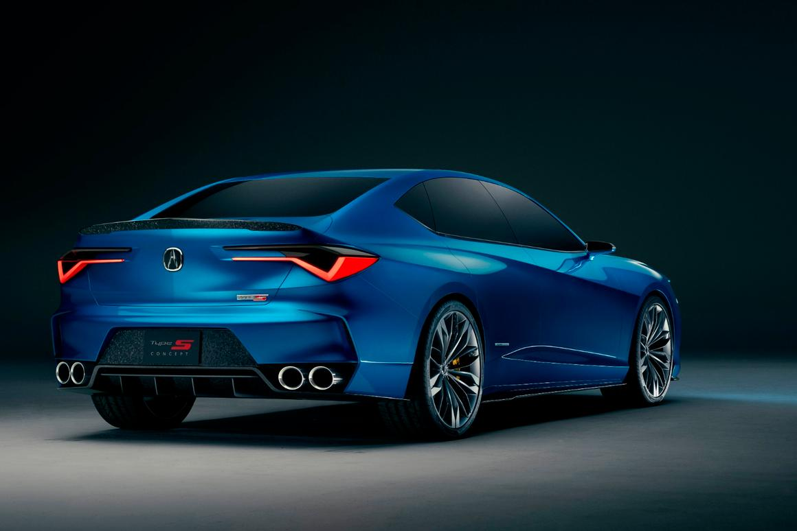 The Acura Type S Concept's tidy backside, with forged carbon accents