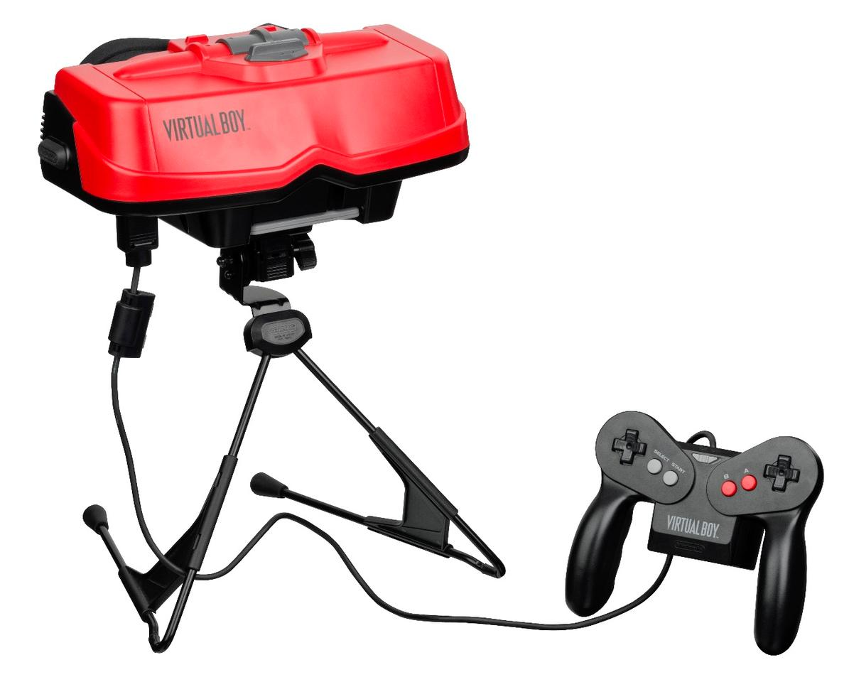 The Virtual Boy, an early attempt by Nintendo to create a VR video game console