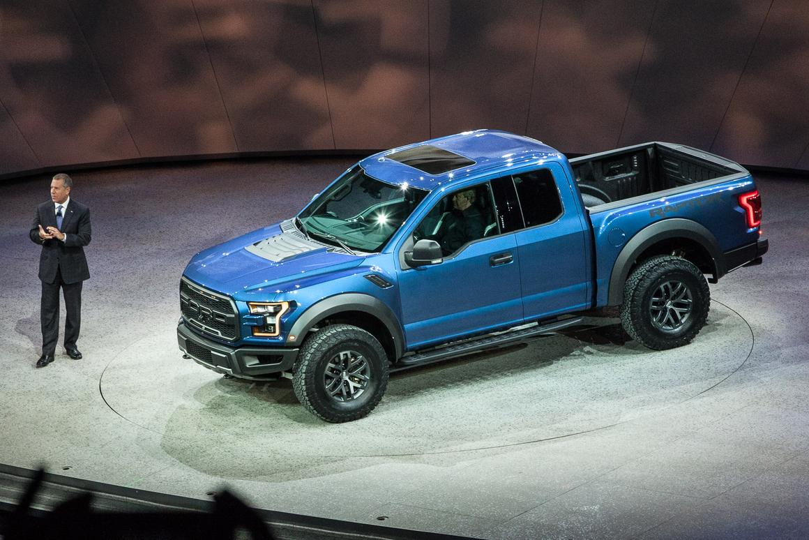 The new Raptor is introduced in Detroit (Photo: Loz Blain/Gizmag)