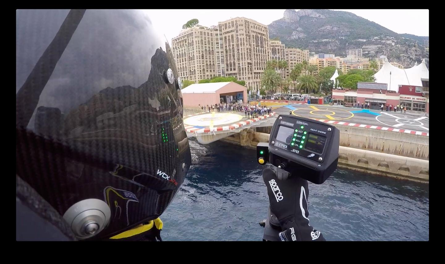 Bid's eye view: David Mayman flies the JB-10 jetpack in Monaco