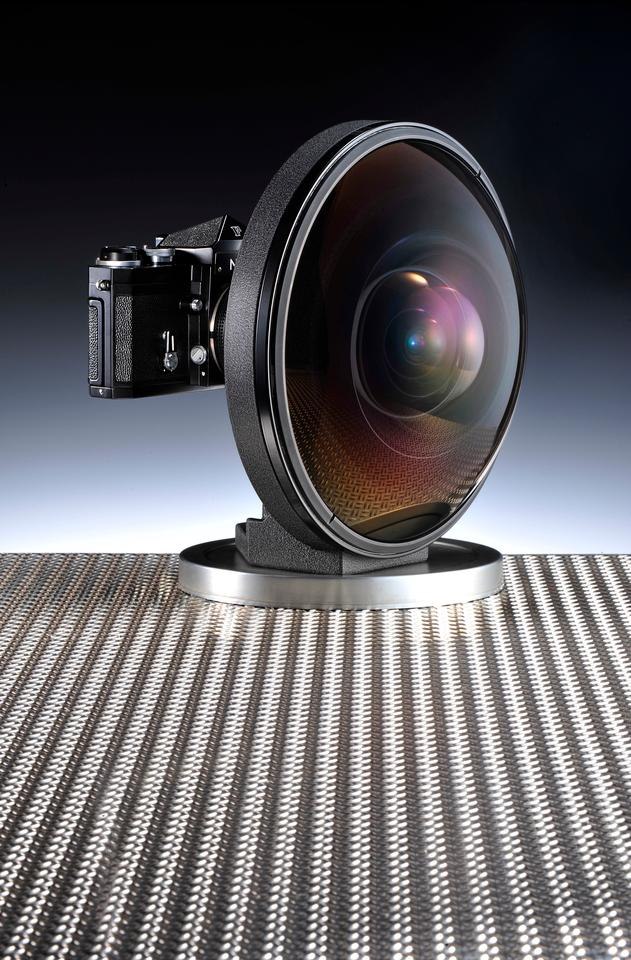 The 6mm f/2.8 Nikkor lens weighs 11.46 pounds, is 9.29 inches in diameter and some 6.73 inches in length (Photo credit: Tony Hurst)