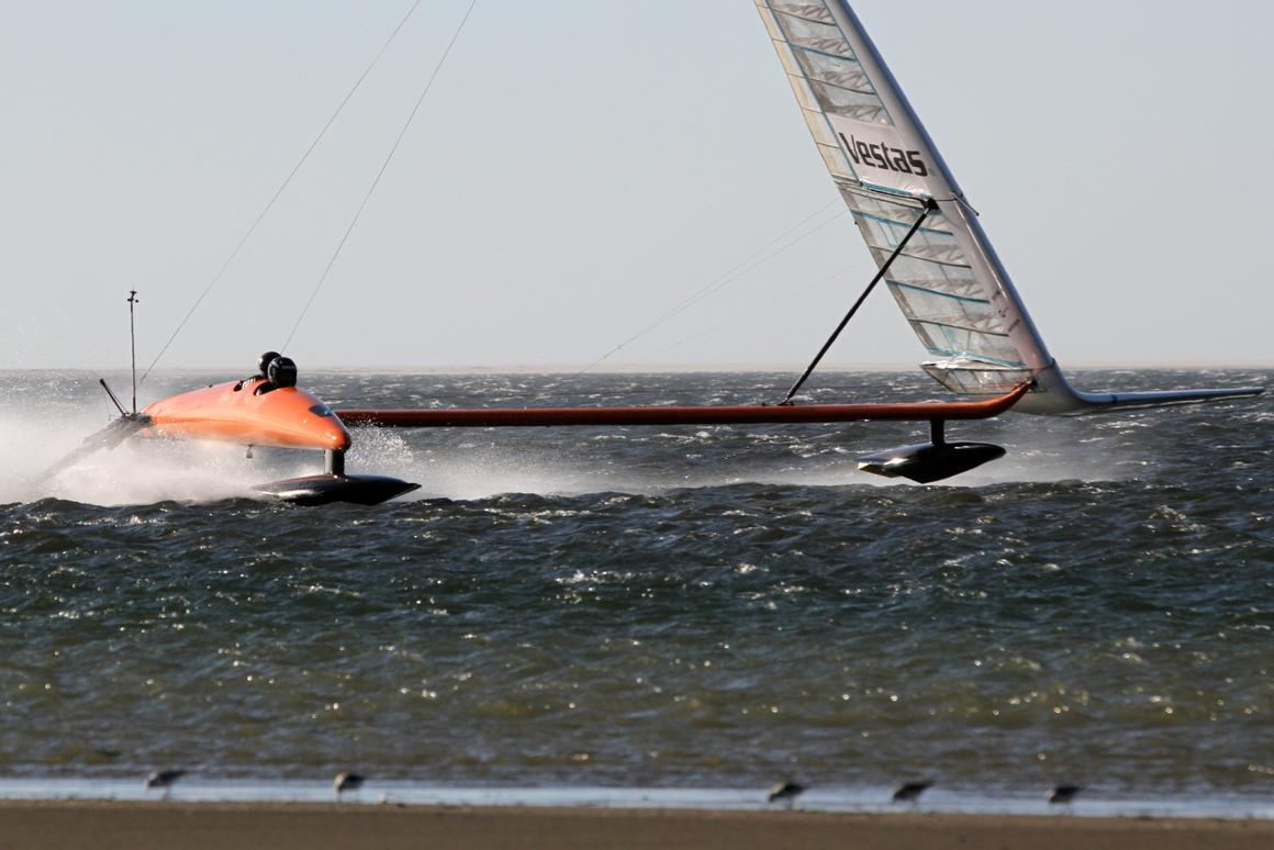 Paul Larsen in the Vestas Sailrocket 2 records 59.38 knots (68.3 mph - 110 km/h) on Walvis Bay, Namibia. Meanwhile at the Luderitz Speed Challenge, sailboarders broke more than a dozen speed sailing records with Antoine Albeau recording 52.05 knots (59.9 mph - 96.4 km/h).