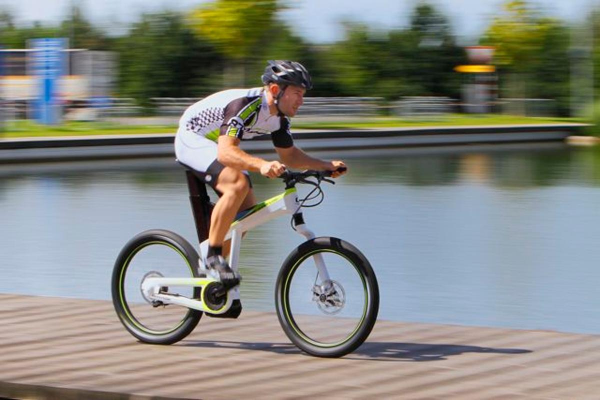The Bosch/Cannondale ebike drive system being demonstrated at Eurobike