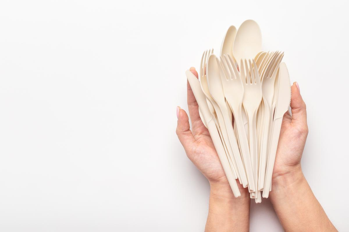 Scientists have turned bioplastic cutlery into usable foam through a novel recycling process