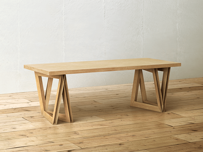 The Sound Table comes in Natural Brown (shown), Ash Gray or Bi-Color options