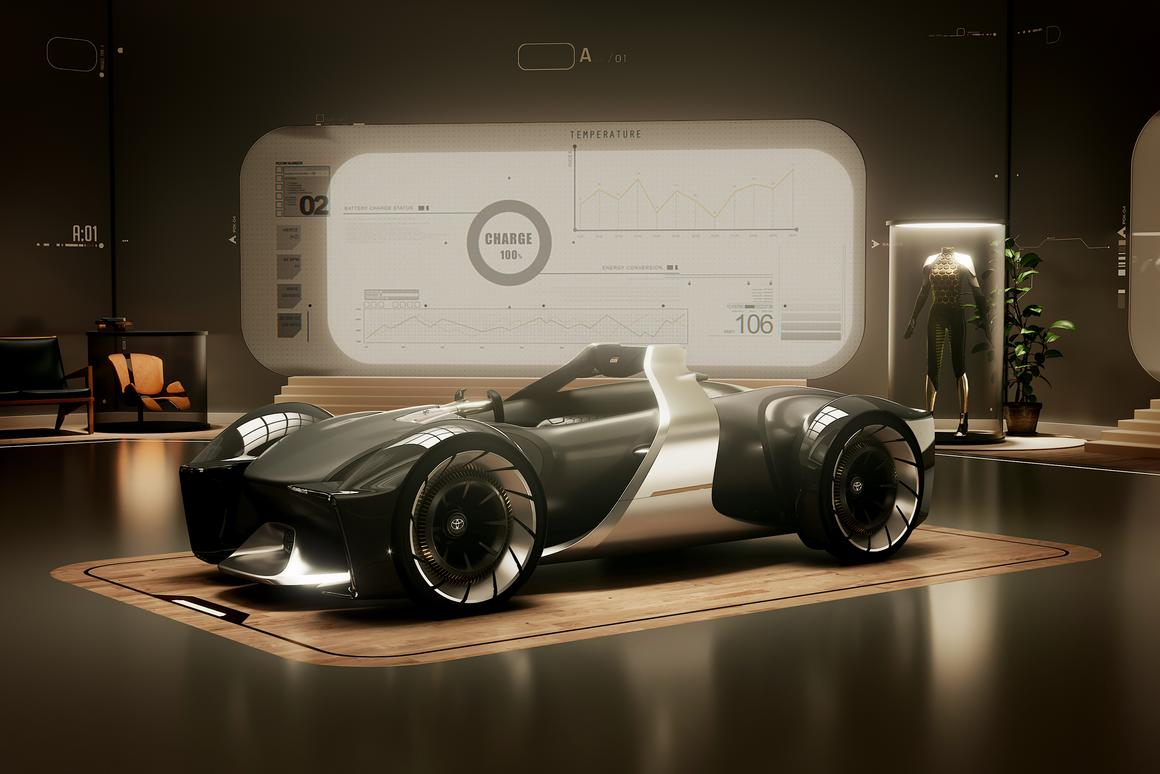 Toyota's e-Racer: a complete sci-fi dream, but at least it's a good looking one