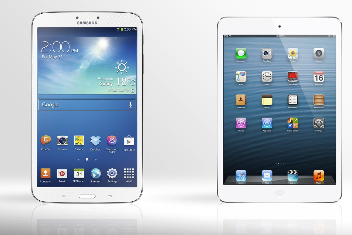 Gizmag compares the specs (and other features) of the iPad mini and 8-inch Samsung Galaxy Tab 3