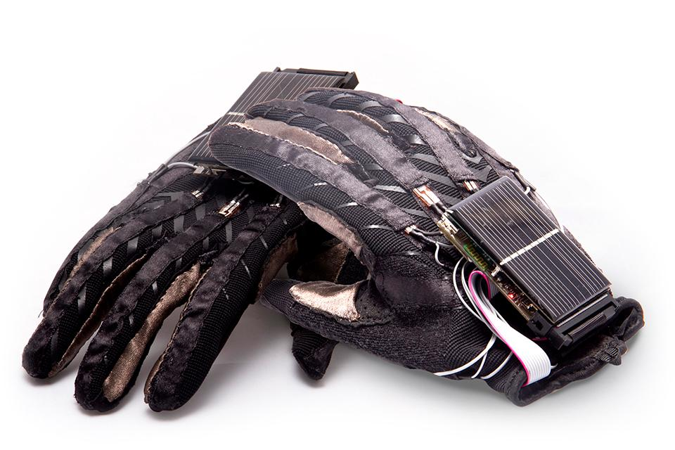 The EnableTalk gloves feature a variety of sensors that allow the system to recognize signs that are then translated into speech