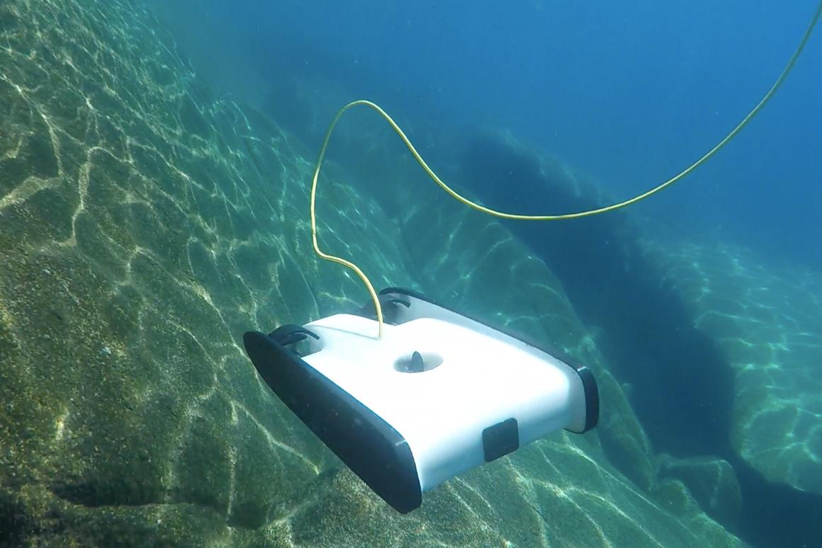 The Trident ROV in its element