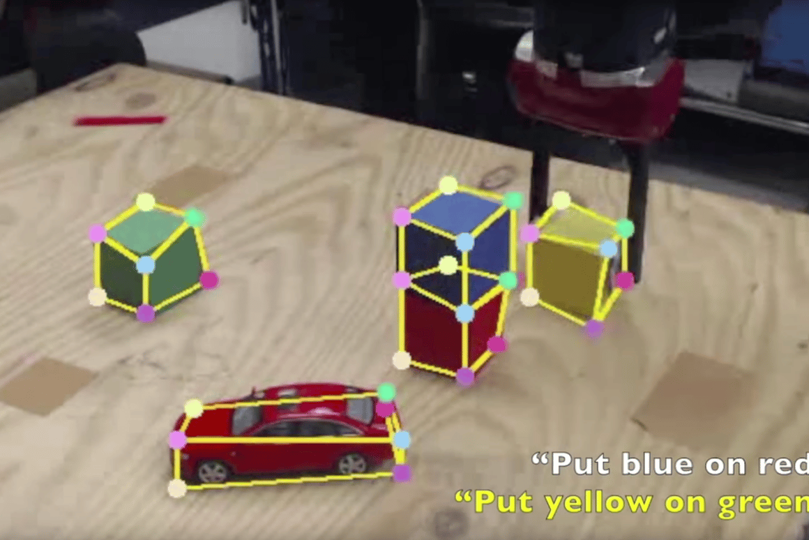A robot completes a task after being shown how to, just once, by a human instructor