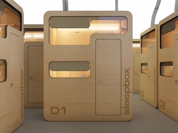 The Sleepbox hostel version - no need for walls between bedrooms