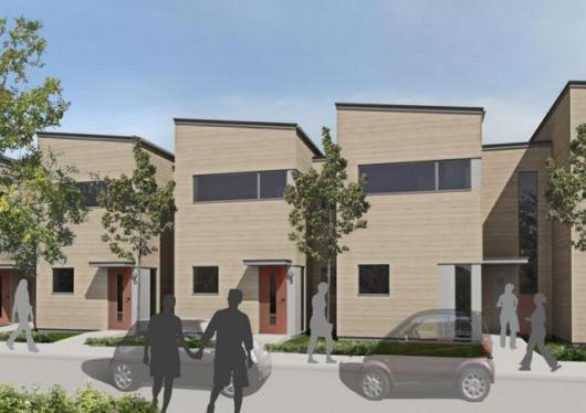 An artists' impression of the BoKlok 2 and 3-bedroom homes.
