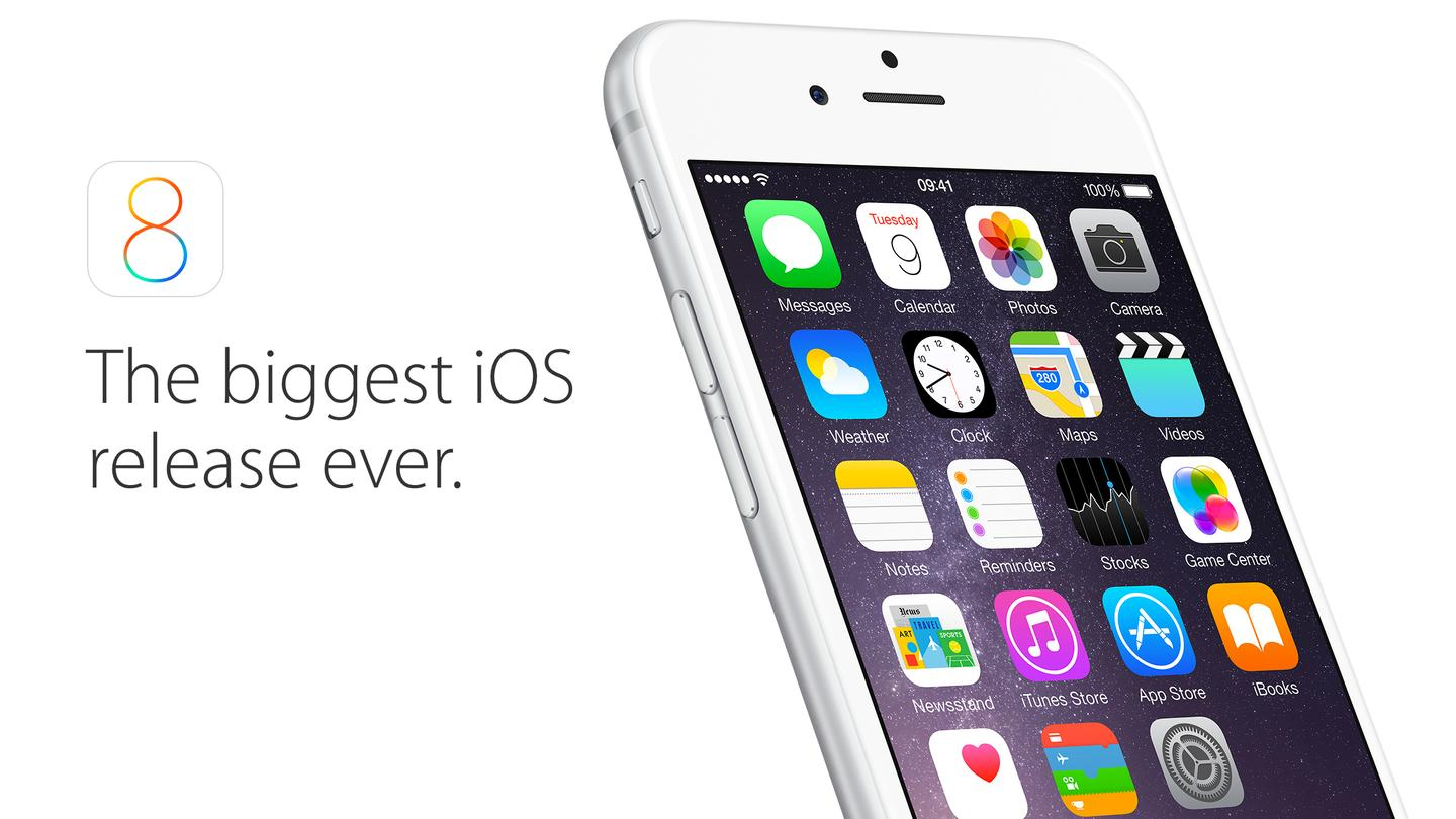 iOS 8 is available to download starting today