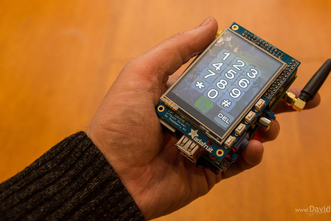 The PiPhone from software engineer and photographer Dave Hunt