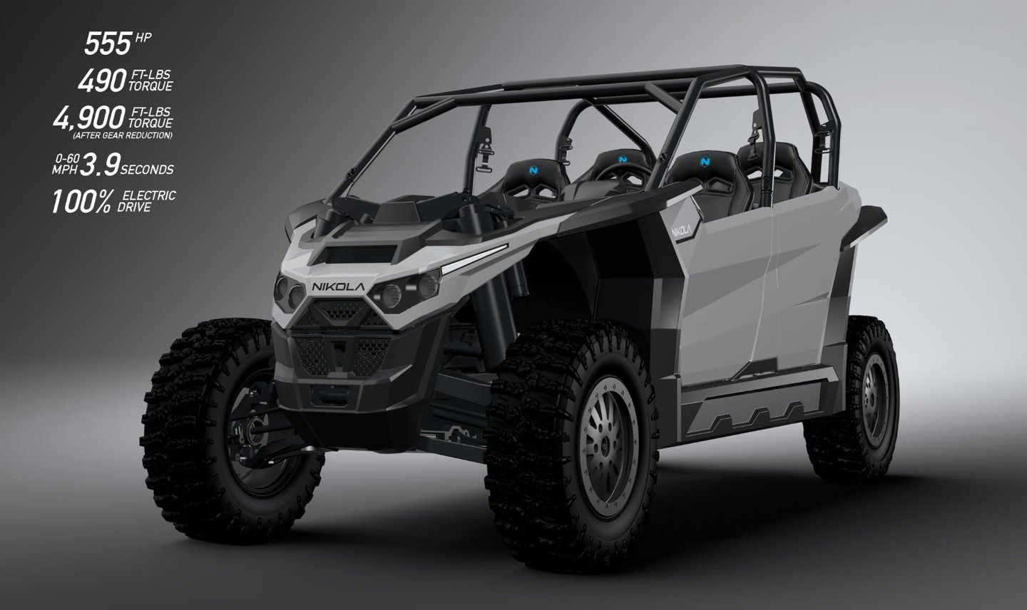 555-hp Nikola electric side-by-side tears through dirt for