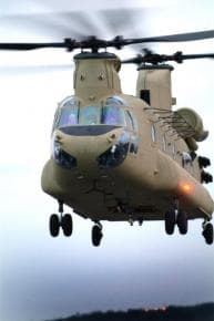 New Boeing CH-47F takes flight, Photo: Fred Troilo