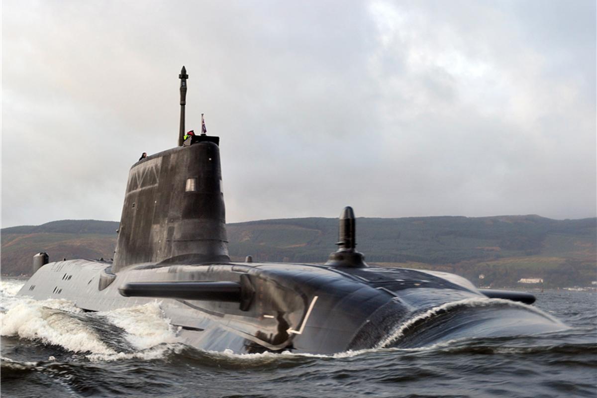 Astute class submarine on sea trials
