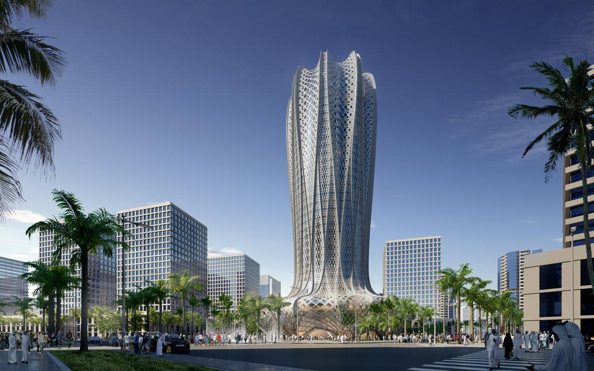 The skyscraper will rise to a height of 38 stories