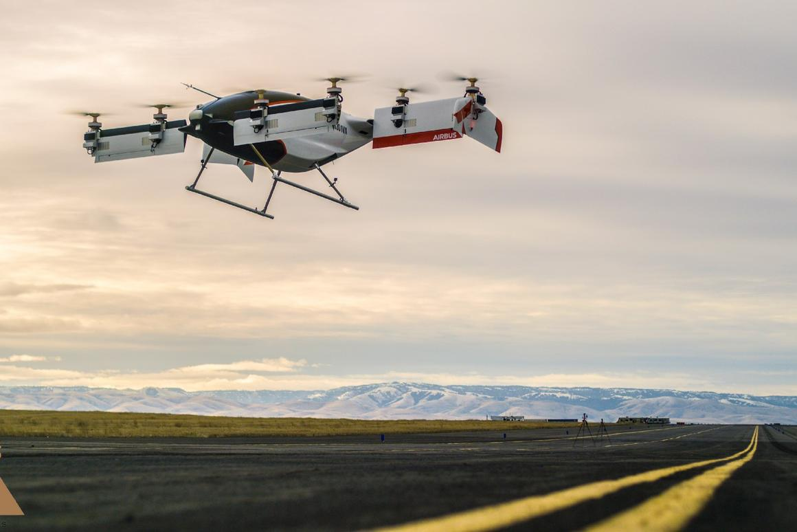 The first successful full-scale test flights for Vahana, an all-electric VTOL self-piloting aircraft