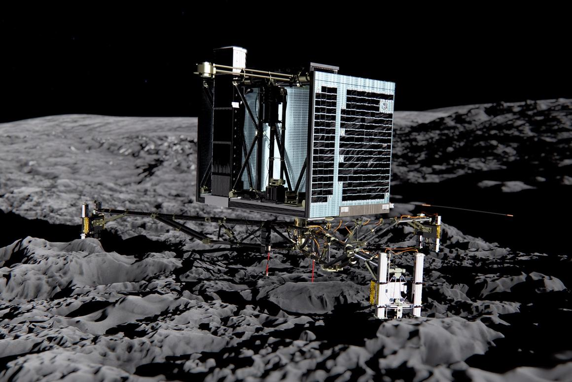 Artist's impression of Philae landed on 67P