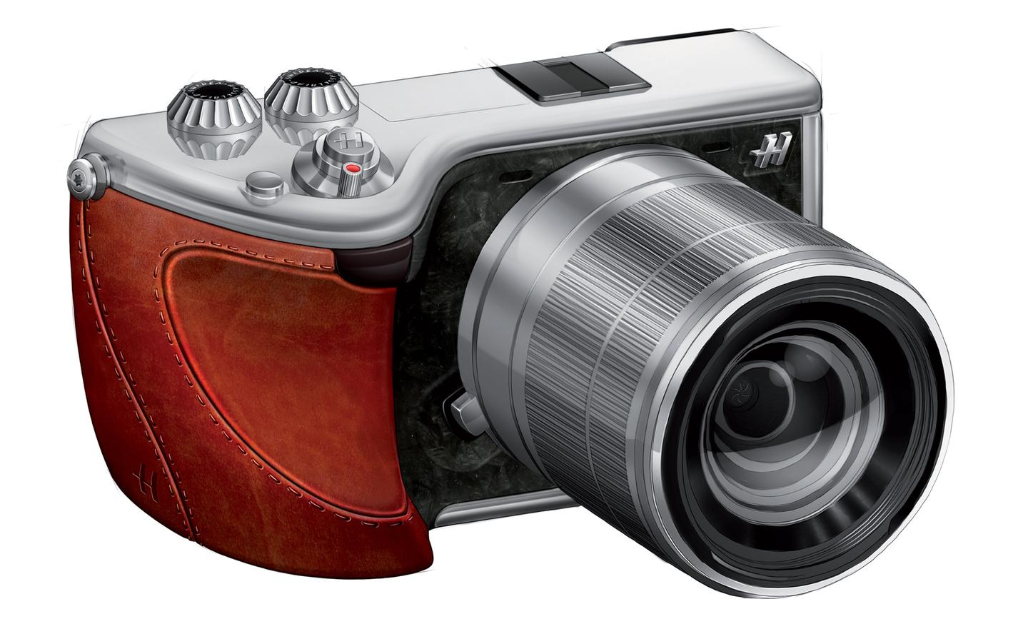 Hasselblad Lunar with tanned leather grip