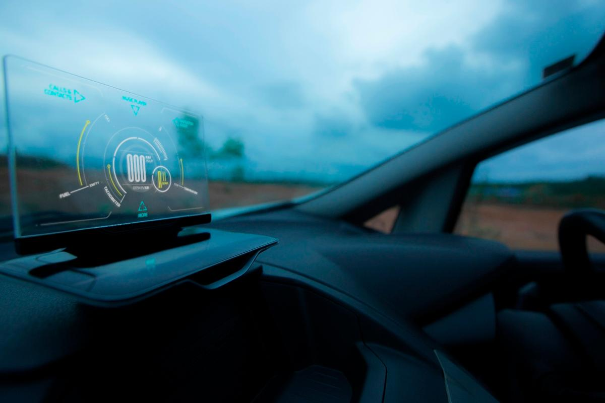 Exploride heads up display