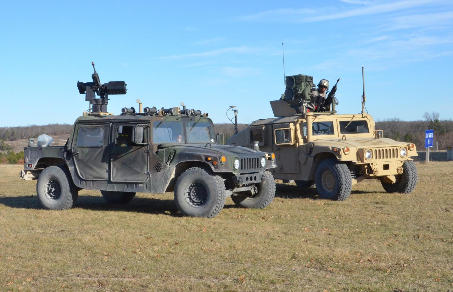 Two vehicles from the new 'Wingman' US autonomous weapons program