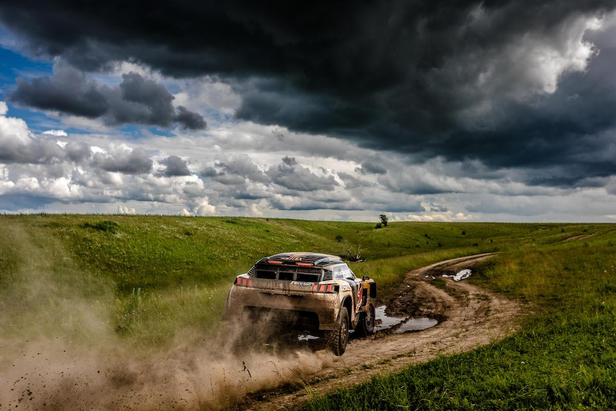 Peugeot catches some air on theSilk WayRally