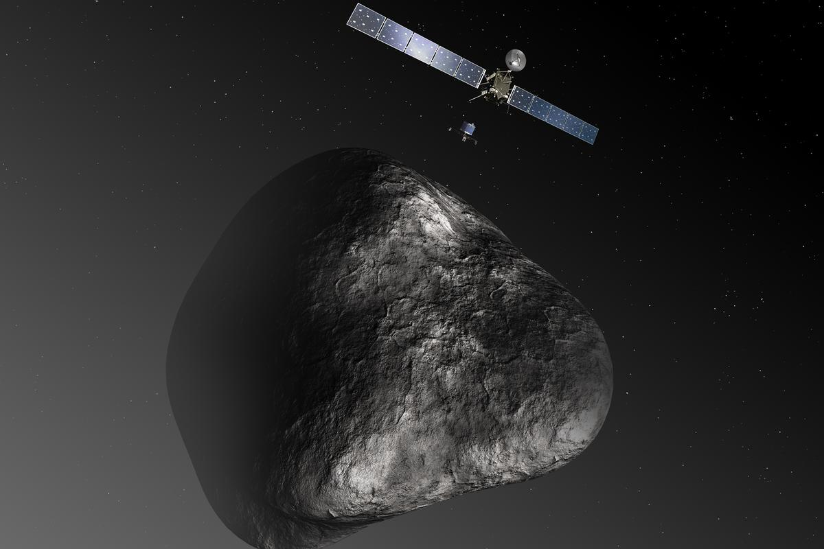Artist's impression of Rosetta at comet 67P (Image: ESA)