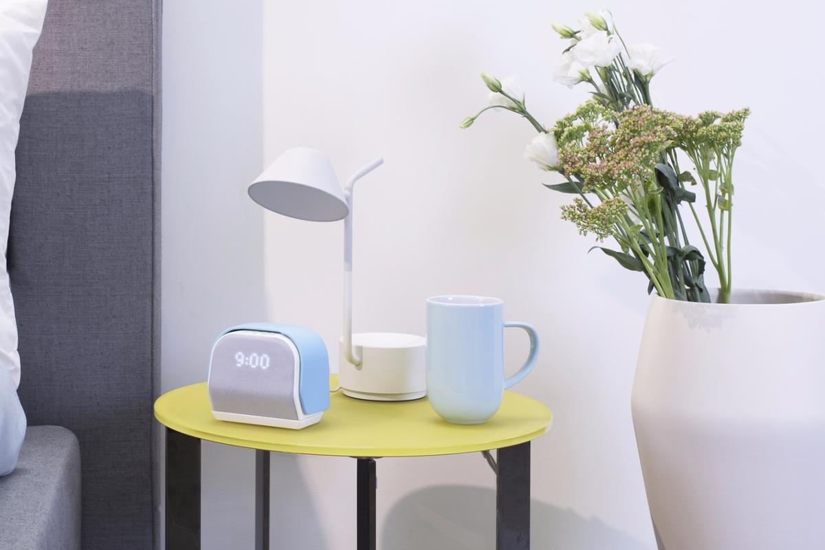 The Kello system includes a bedside device and an accompanying app
