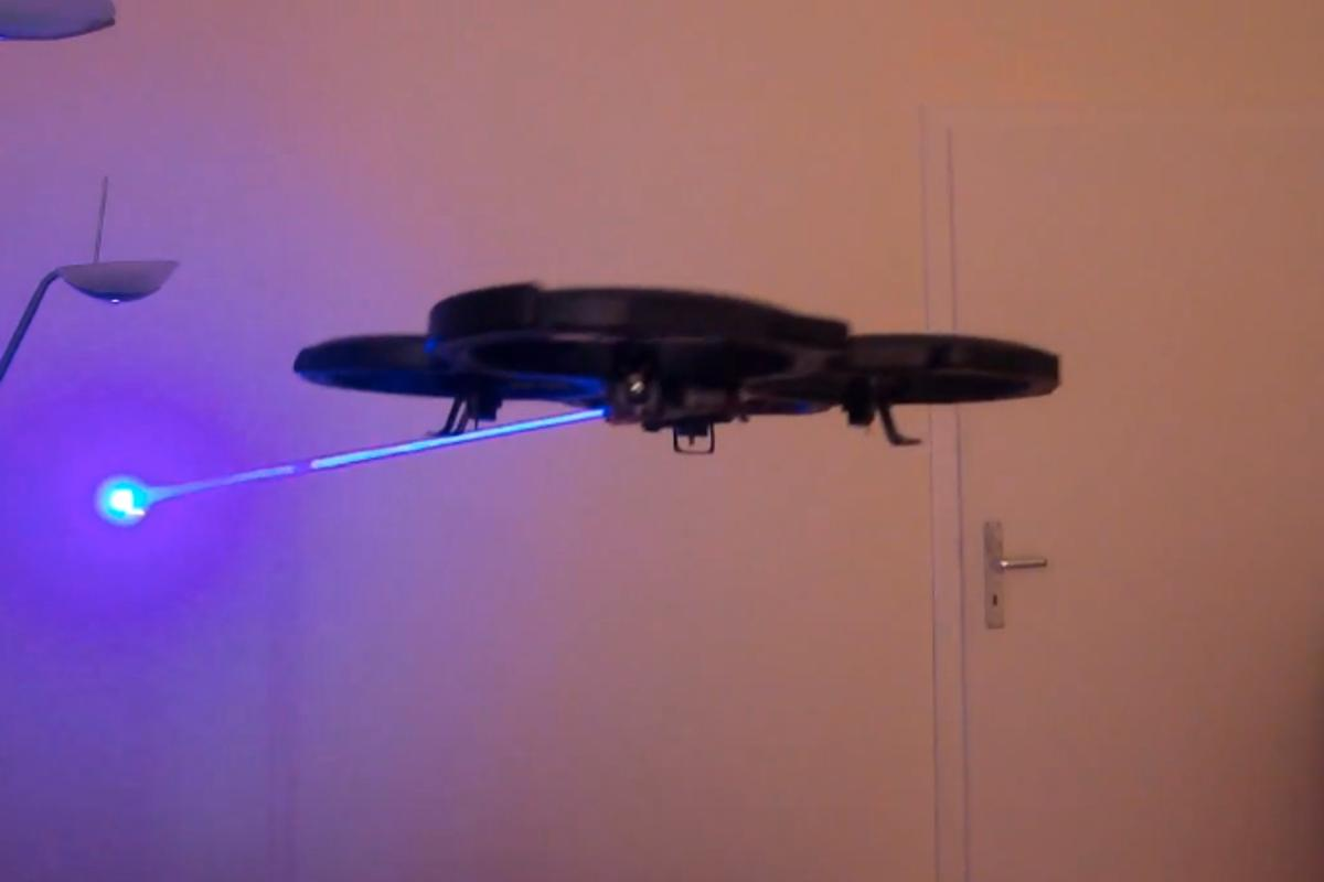 The Laser Drone on the prowl