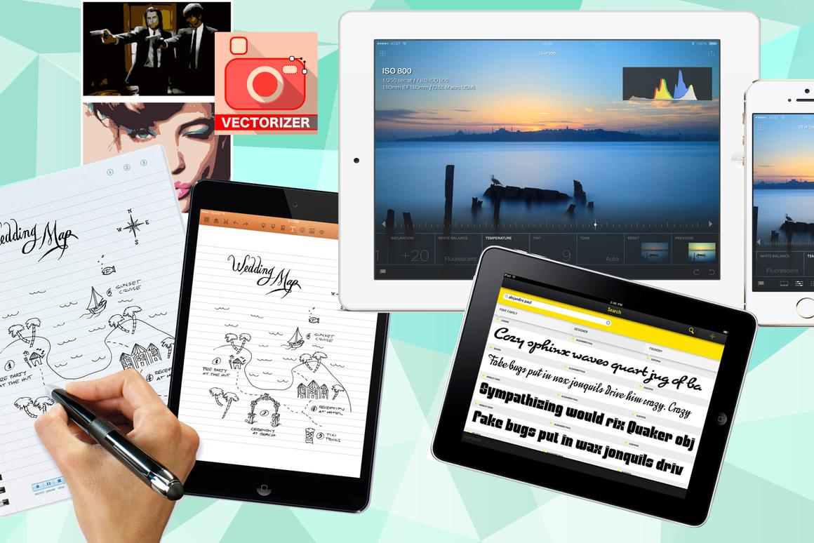 New Atlas rounds up four of the best iPhone or iPad apps for graphic designers