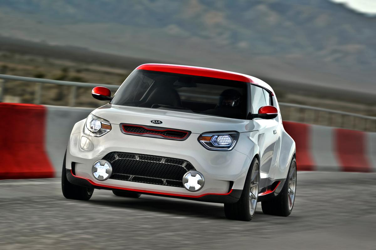 Kia's Track'ster concept is a sporty, powerful reinterpretation of the Kia Soul, with racing aspirations