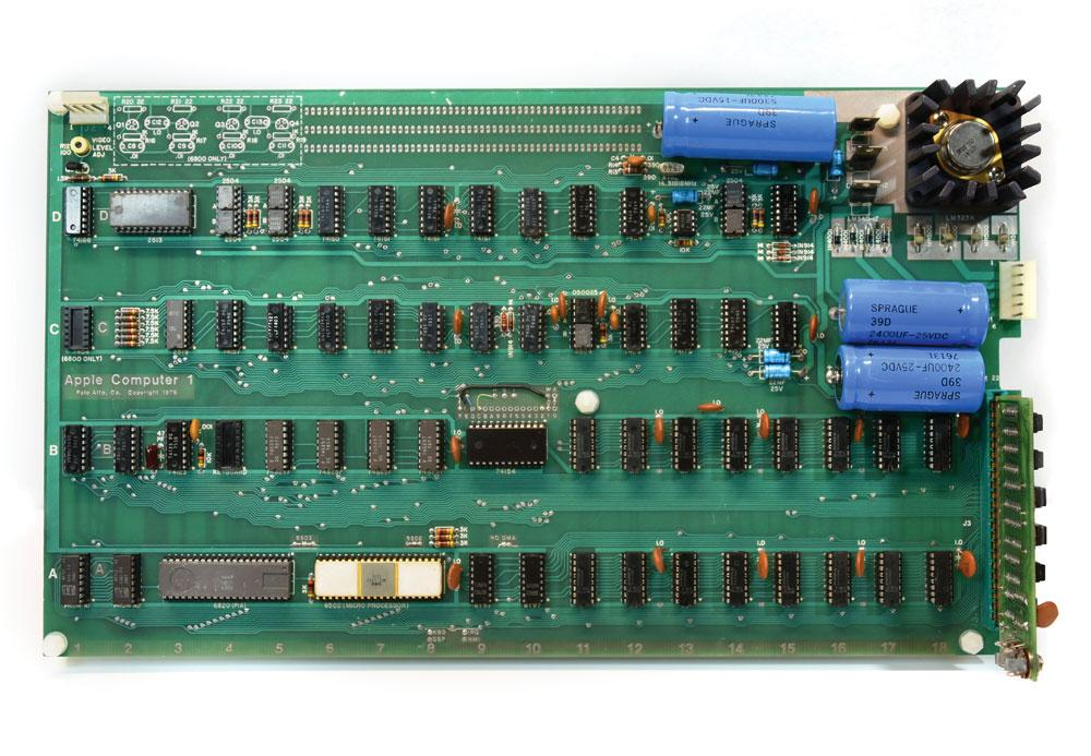 The Apple I was hand assembled by Steve Wozniak and Steve Jobs